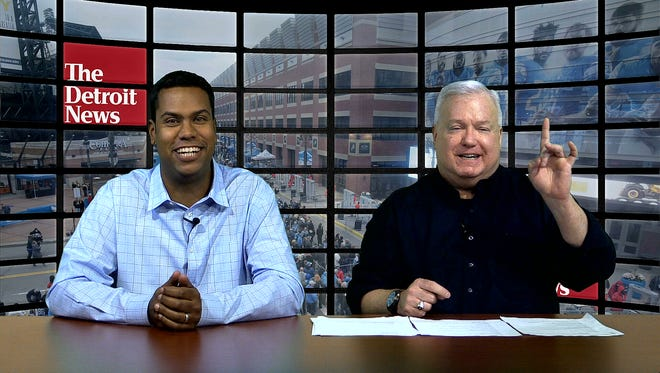 John Niyo, left, and Bob Wojnowski preview the Lions-Bears game along with Justin Rogers.