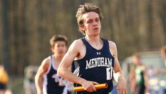 Mendham's Jack Stanley crosses the finish line during
