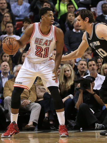 Hassan Whiteside was suspended one game for throwing
