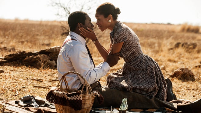 Idris Elba as Nelson Mandela and Naomie Harris as Winnie Mandela in 'Mandela: Long Walk to Freedom.'
