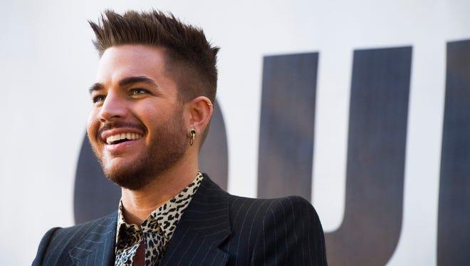 Adam Lambert attends a press event to announce a Queen + Adam Lambert summer tour in New York.