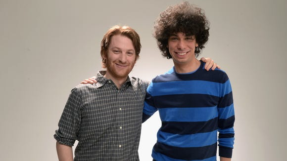 """Director Rob Meyer and screenwriter Luke Matheny of the film """"A Birder's Guide To Everything"""" pose at the Tribeca Film Festival 2013 portrait studio on April 21, 2013 in New York City."""