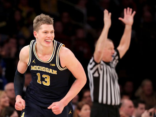 Moritz Wagner makes a 3-pointer in the Big Ten championship