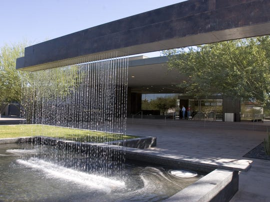 The new entrance to the Phoenix Art Museum, designed