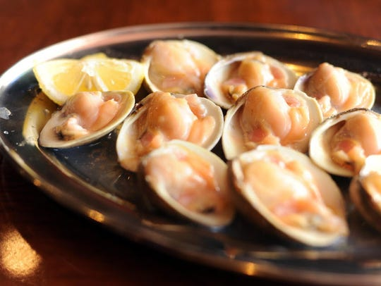 Clams on the half shell, pictured here from Biggie's