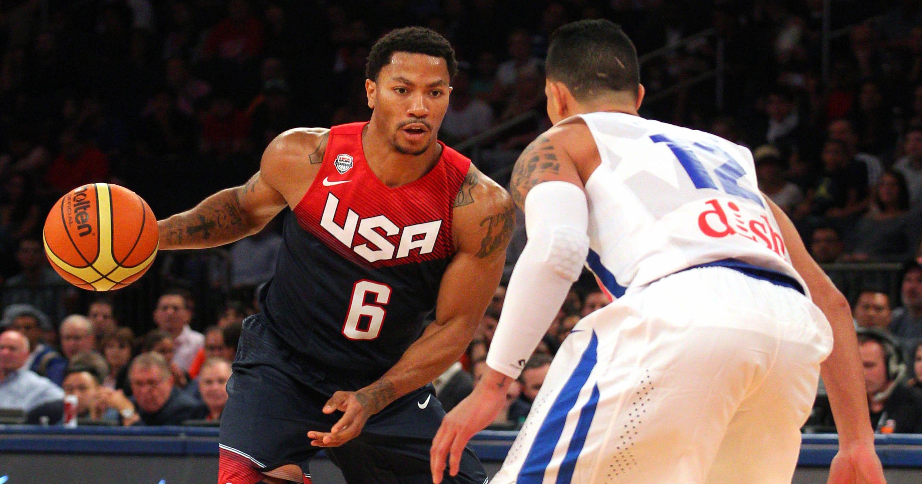 c66eb474cac7 Derrick Rose looks  phenomenal  for USA vs. Puerto Rico
