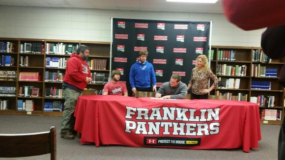 Franklin senior Jeremiah Young has signed to play college football for Western Carolina University.