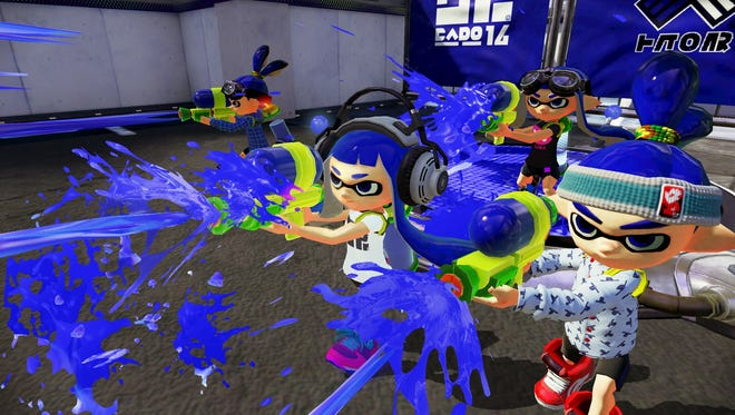 Splatoon features a variety of weapons including Splattershots, Chargers and Rollers.