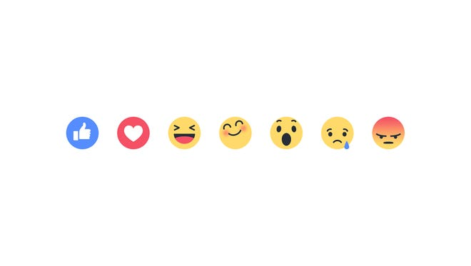 "Facebook's new ""Reactions"" buttons let you express a broader array of emotions."