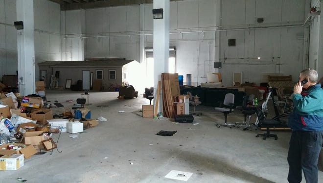 Thieves emptied a Salvation Army storage warehouse.