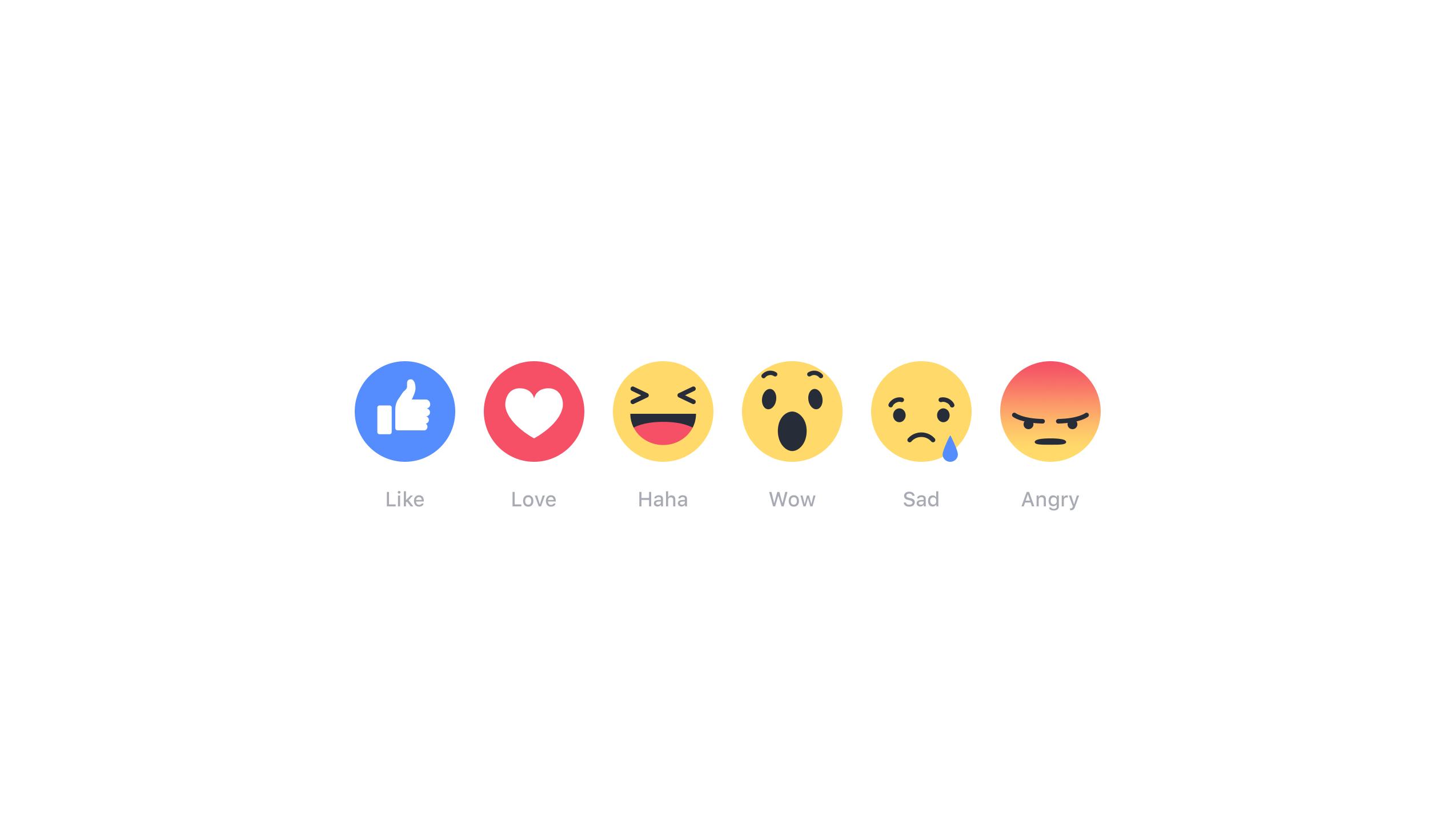 Meet Facebooks New Emoting Emojis Love Haha Wow Sad And Angry