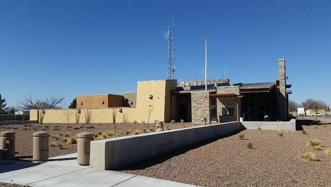 The newly built Mesilla Valley Regional Dispatch Authority building is seen Feb. 9 at 911 Lake Tahoe Court in Las Cruces.
