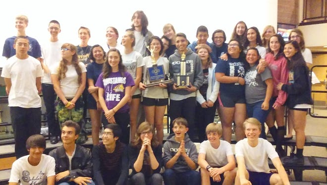 The Silver High band leapfrogged from fourth to first place this year at the state band competition. The Fighting Colts tied rival Cobre High and shared the state title.