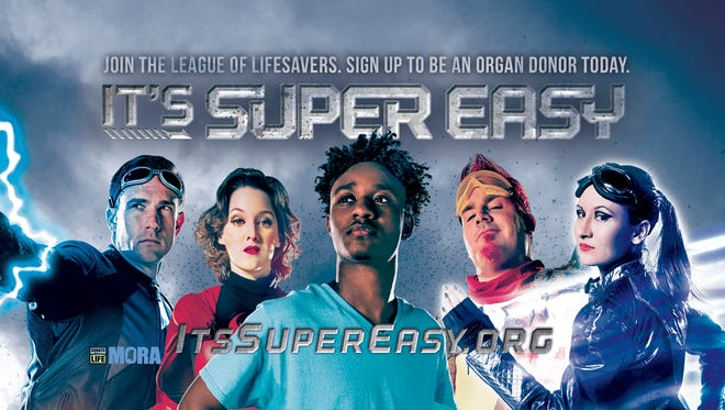 """The Mississippi Organ Recovery Agency has launced the """"It's Super Easy"""" campaign."""