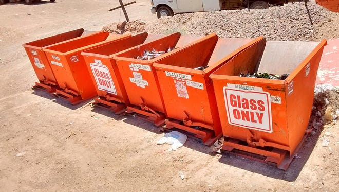 The orange glass recycling bins at the landfill will be removed July 1. After that date all glass will need to disposed of with household trash.