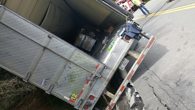 A truck carrying 45,000 pounds of dairy products nearly overturned in May.