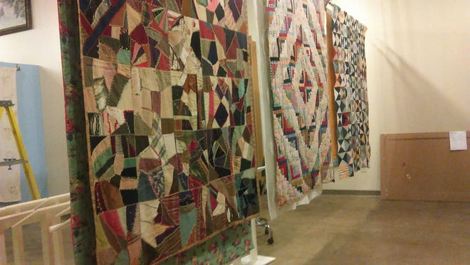 "A selection of the quilts featured in the ""Pieces of the Past: Quilts Tell a Story"" exhibit at the Marathon County Historical Society."