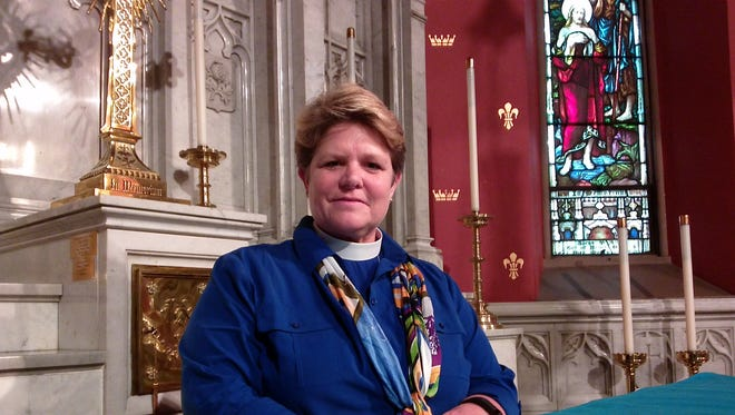The Rev. DeDe Duncan-Probe, 11th bishop of the Episcopal Diocese of Central New York, at Christ Church in Binghamton.