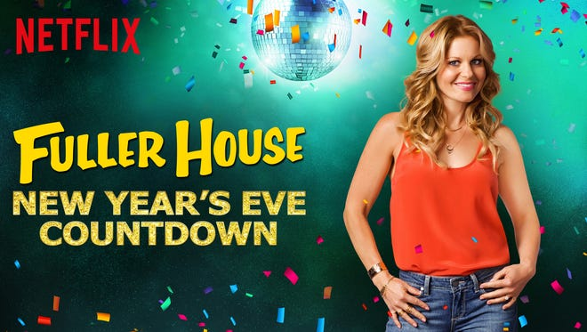 'Fuller House' star Candace Cameron Bure helps celebrate on Netflix's New Year's Eve Countdown.
