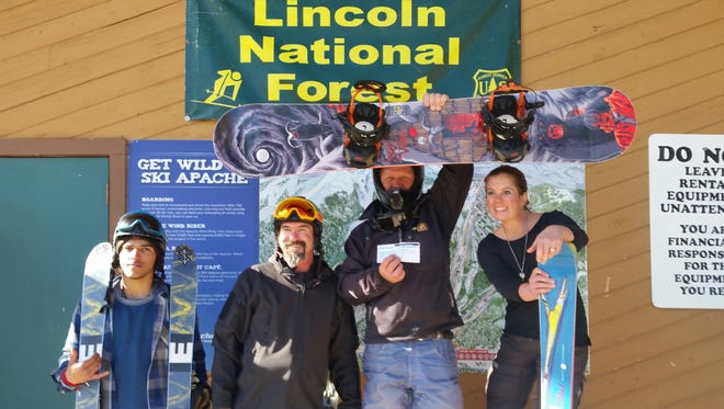 The Meisters team wins the Ski Apache Big Mountain Vertical Challenge March 4.