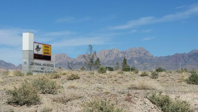 Centennial High School, located in southeast Las Cruces, is surrounded by desert acreage that attracts target shooters.