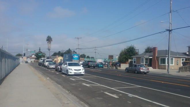 Bicycle lanes in East Salinas