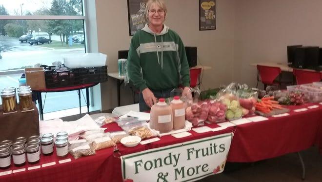 Bill Zeleske of Fondy Fruits & More is a regular vendor at the Fond du Lac Winter Farmers Market.