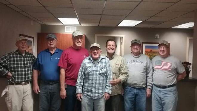 Volunteers who helped build the new dental clinic at Lake Area Free Clinic are (from left) Dr. Tom Schroeder, Jim Navin, Steve Holtzman, Bob Brouwer, Mark Knickelbein, Bill Brannan and Jack Myers.