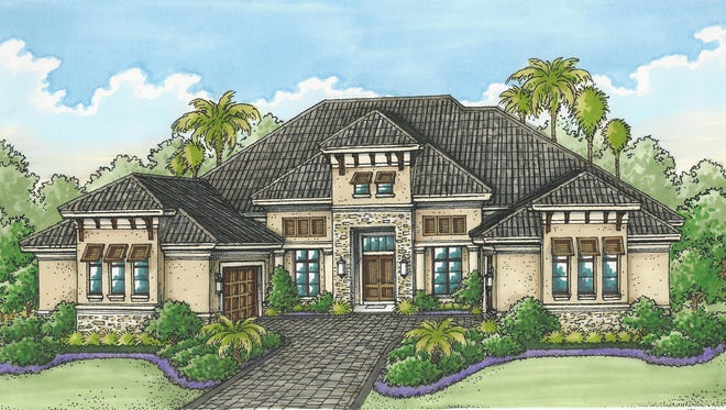 The Cortona II model by Stock Signature Homes is priced at $2,985,880, without furnishings.