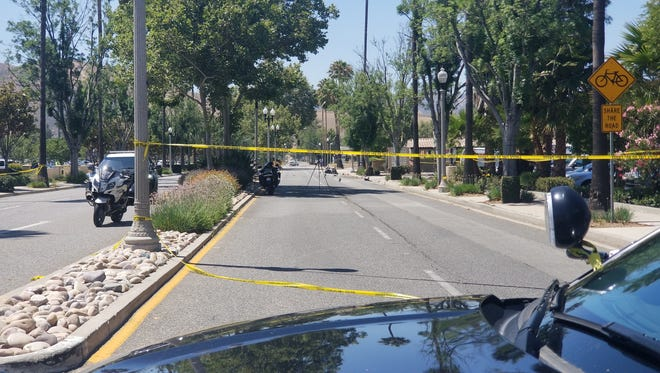 Simi Valley police are investigating and alleged hit and run that killed a motorcyclist Monday morning.