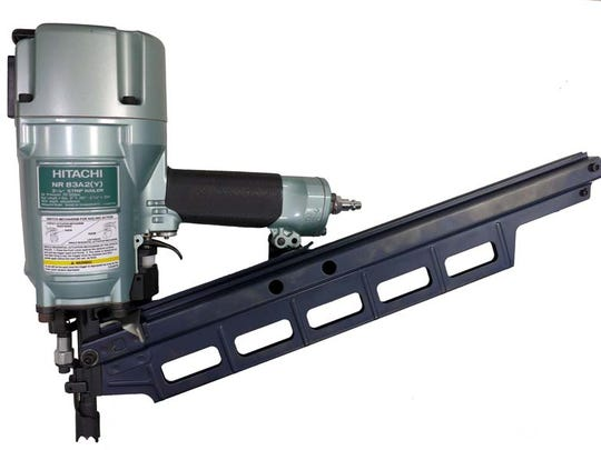 Two models of Hitachi Koki 3 ¼ inch strip pneumatic nailers can jam and override the safety switch that permits only one nail to fire at a time, posing an injury risk.