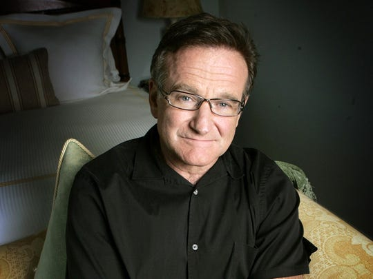 In this June 15, 2007 file photo, actor and comedian Robin Williams poses for a photo in Santa Monica, Calif. Williams died Monday, Aug. 11, 2014, in an apparent suicide at his San Francisco Bay Area home.