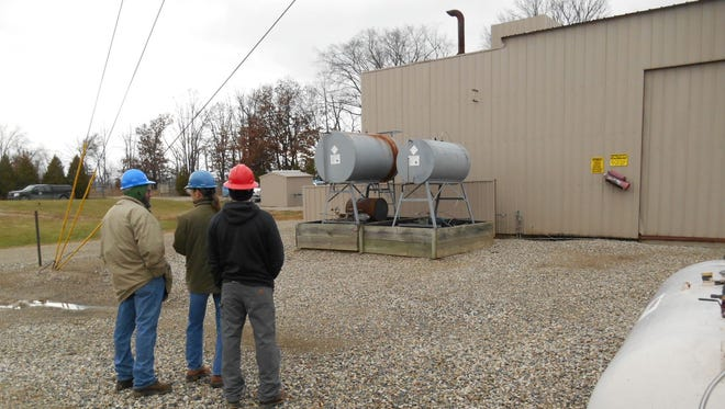 A photo of the now-demolished Merit Energy natural-gas processing plant, which was once operated on Lone Tree Road in Hartland Township, taken during a Dec. 5, 2013 inspection by the Michigan Department of Environmental Quality's air quality division.
