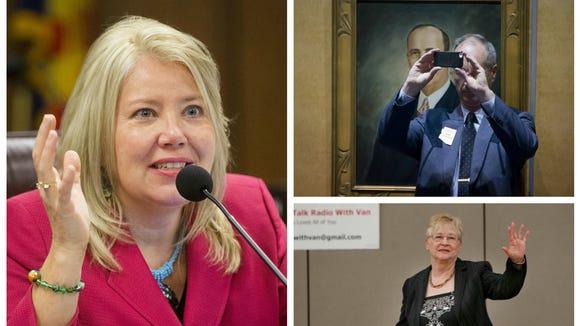 Arizona lawmakers (clockwise from top left) Sen. Debbie Lesko, Rep. Bob Thorpe and Rep. Judy Burges.