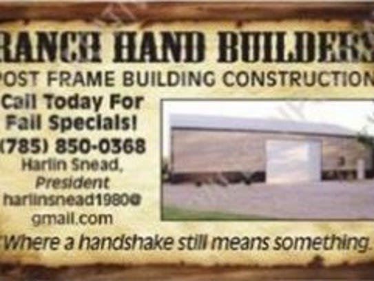 Ranch Hand Builders advertising listed Harlin Snead