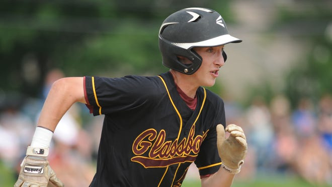 Glassboro's Justin Tongue runs out a single during a game last season. Tongue and the Bulldogs will play for their first state championship on Saturday.