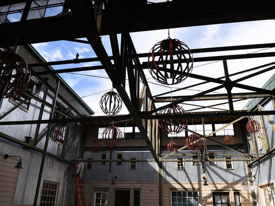 A new outdoor courtyard and event space is being renovated at Edgehill Village.