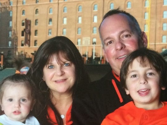 Adam Gladstone, pictured here with his family at Camden Yards, served as the director of baseball operations for the York Revolution from 2007-09, assembling the rosters for the first three teams in Revs history.