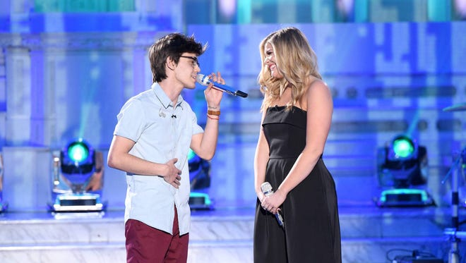 """Mackenzie Bourg performs a duet with Lauren Alaina  Thursday on :American Idol."""""""