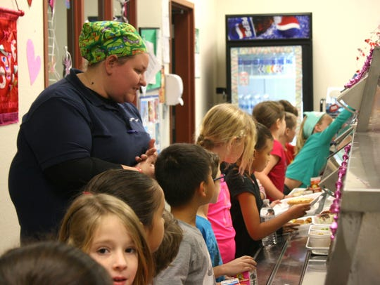 During lunchtime at Ralph Williams Elementary in Viera,