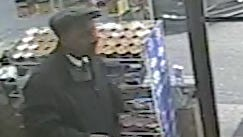The well-dressed Robert Berry, 54, of Mount Vernon seen here moments before taking 90K from a White Plains service station, police say. Cops arrested him March 24. (Credit: White Plains Police Department)