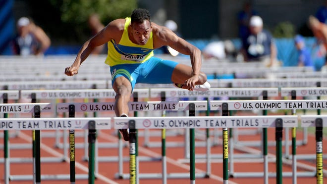 Jeremy Taiwo finished second overall in the decathlon in the U.S. Olympics trials.