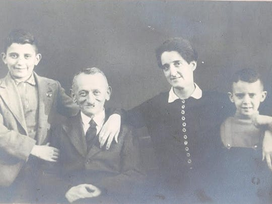 Werner Coppel with his parents and younger brother before the Holocaust.