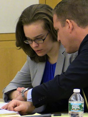 Lacey Spears and defense lawyer David. R. Sachs at the opening of her murder trial last week at the Westchester County Courthouse in White Plains. She is accused of killing her 5-year-old son.