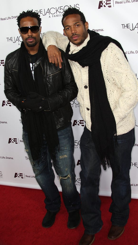 "Shawn and Marlon Wayans attend the premiere of A&E's  ""The Jacksons: A Family Dynasty"" in 2009."