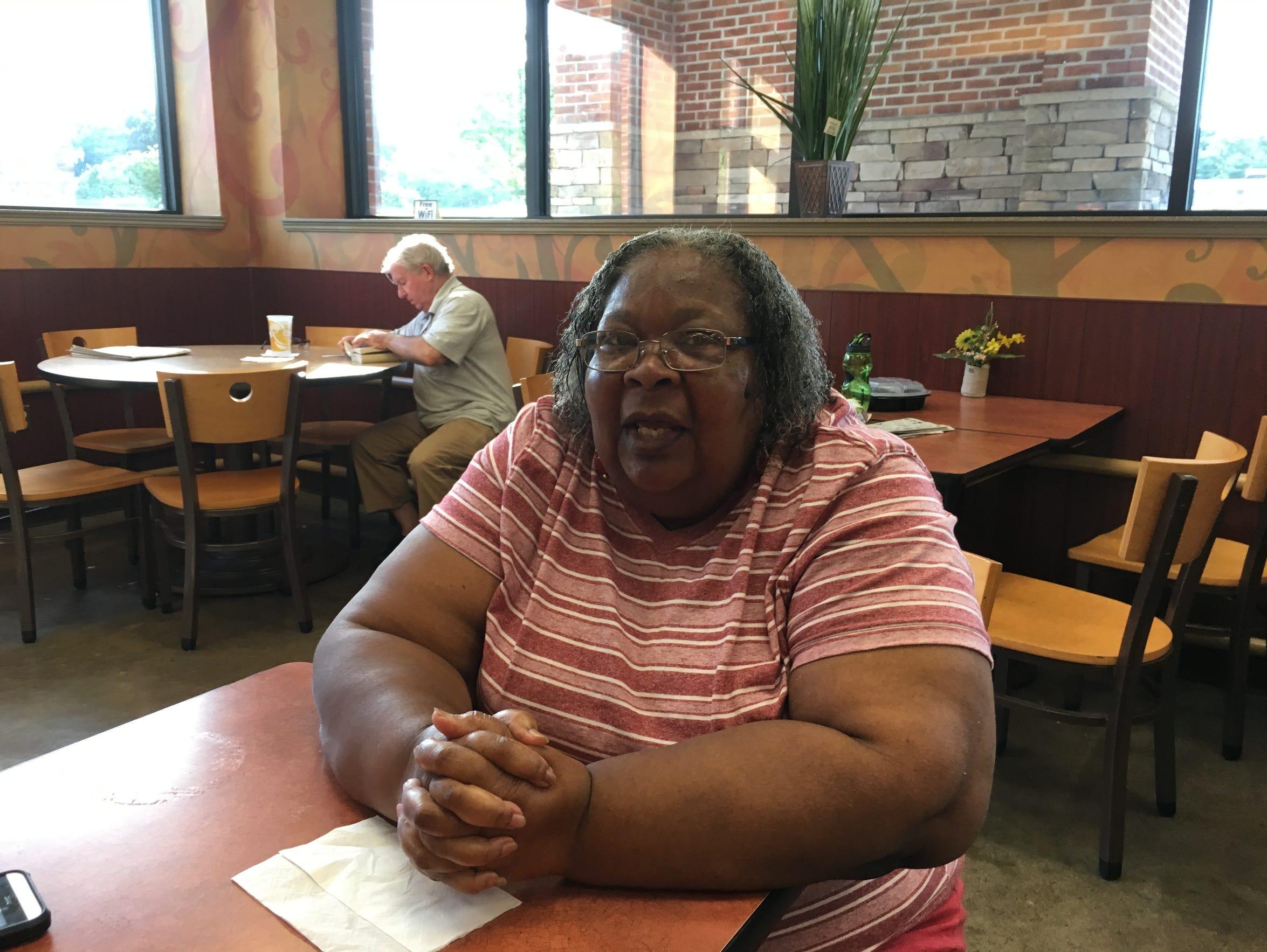 Bessie Fentress, in Richmond, Virginia, Aug. 17, 2016.