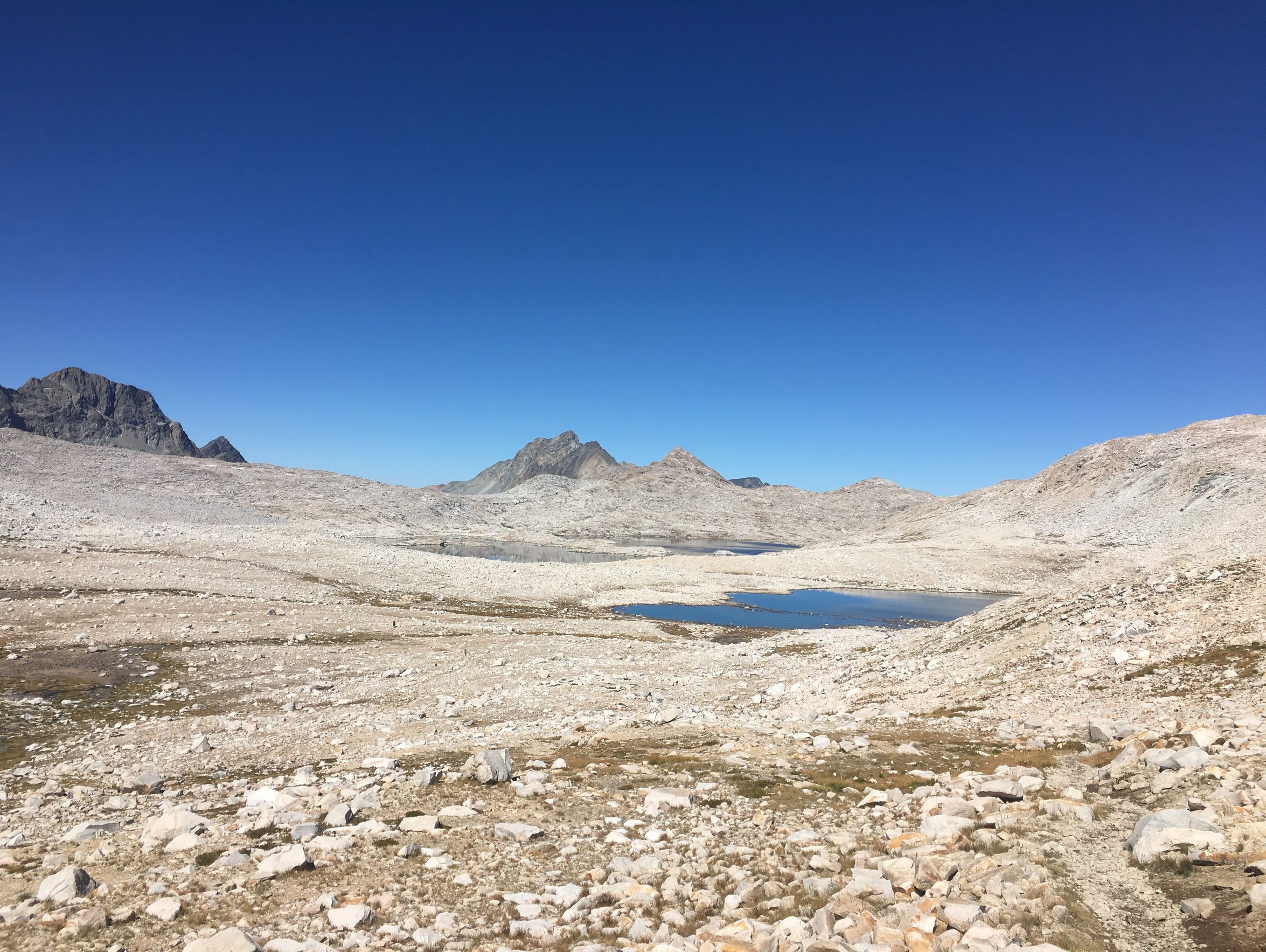 Lake McDermand as seen from Muir Pass on Sept. 17.