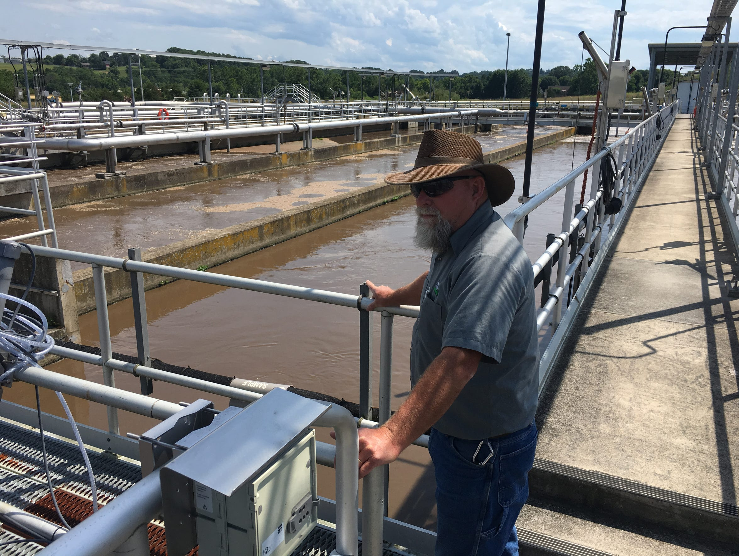 Hal McWhorter, an operator at the Middle River Wastewater