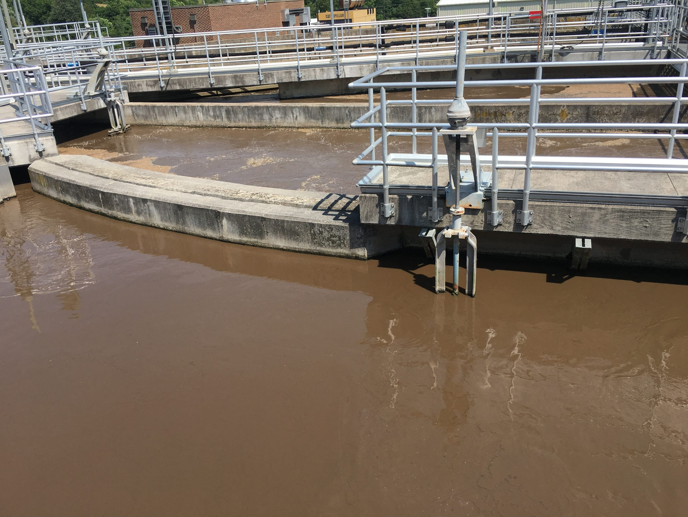 Raw sewage is treated at the Middle River Wastewater
