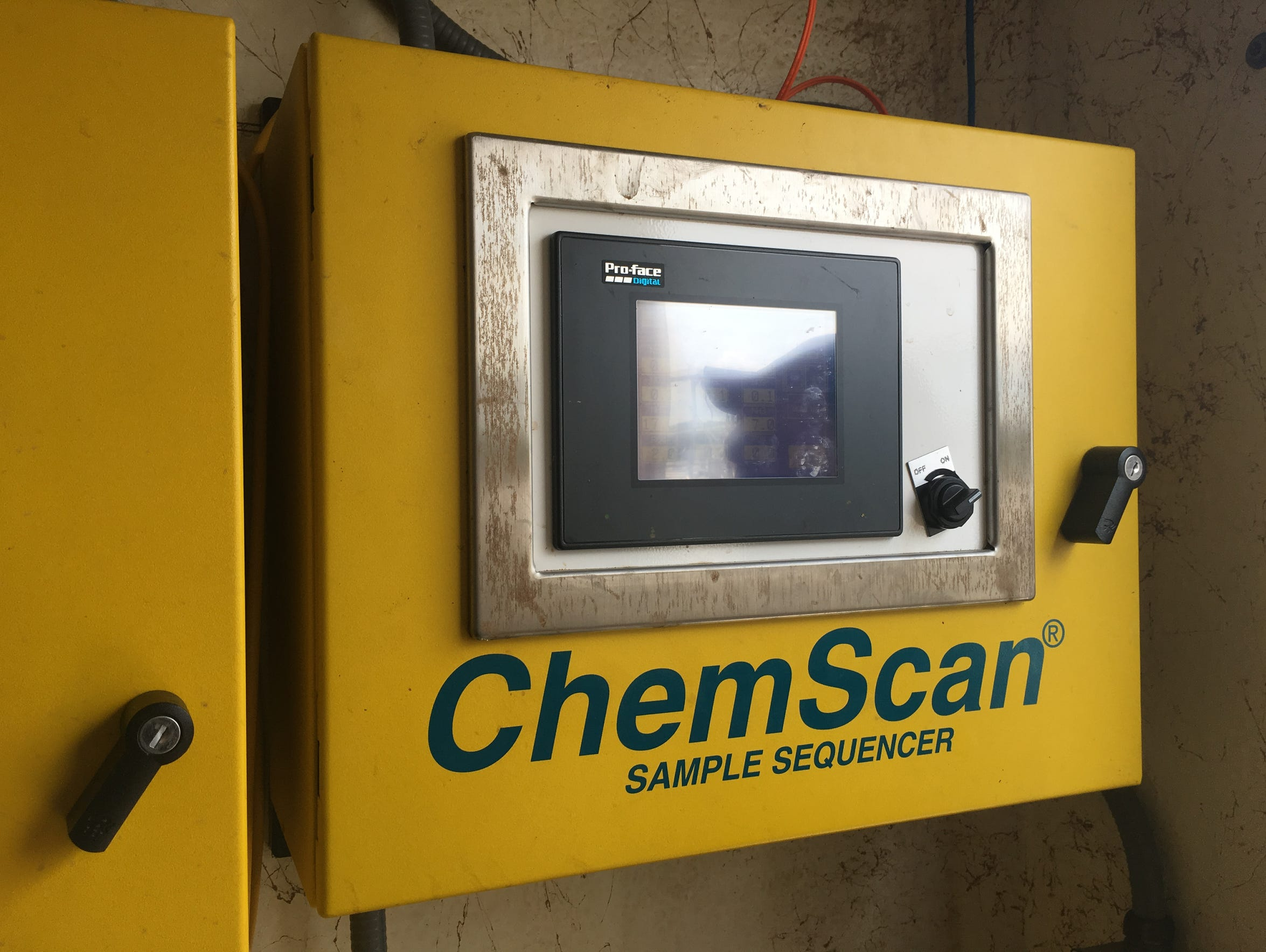 A sample sequencer at the Middle River Wastewater treatment
